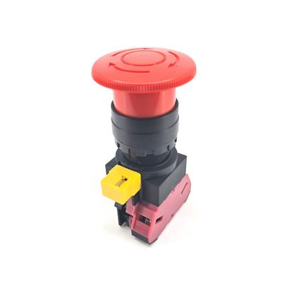 Idec HW1B-V4F01-R - 22mm E-Stop Twist to Reset 1NC Red