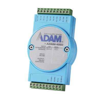 ADAM-4060 - 4xRelay RS-485 Remote I/O Module